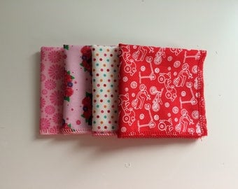 handkerchiefs-Zero waste-washable-reusable-red-pink-dots-deer