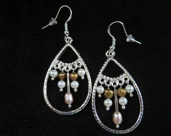 earrings with cultured pearls