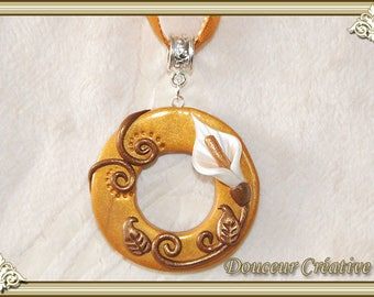 103028 calla flower gold necklace