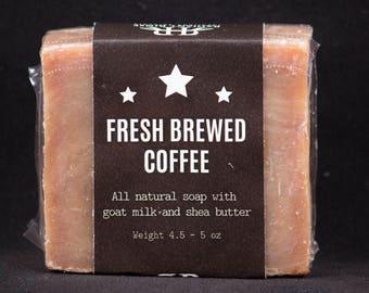 Fresh Brewed Coffee Handmade Goats Milk Soap