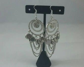 Vintage rinestone chandelier earrings refurbished