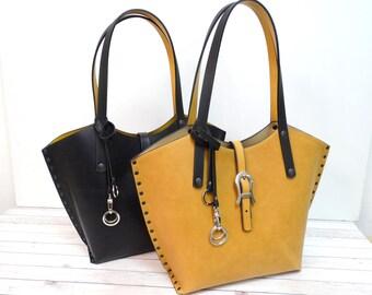 Leather bag Shoulder bag Handmade.