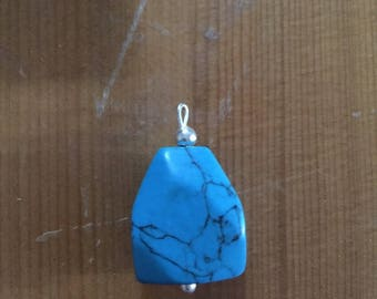 Natural turquoise & Silver 925 pendant