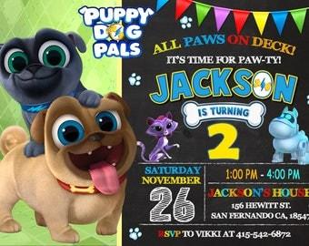 Puppy Dog Pals Invitation, Puppy Dog Pals Birthday Party, Puppy Dog Pals Digital Invitation, Puppy Dog Pals Printable
