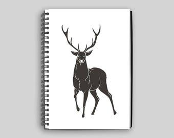 Deer Notebook ~ Deer ~ Journal ~ Deer Diary ~ Deer Spiral Notebook