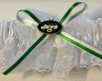 New York Jets Handmade Wedding Garter