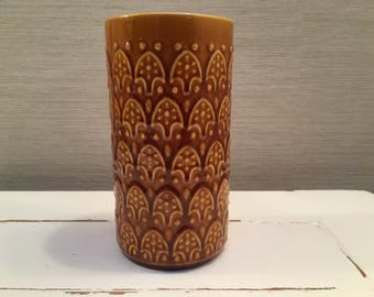 Vintage Secla brown vase - Made in Portugal - 72434