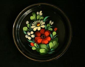 Floral plate Decorative plate Petrykivka Painting art Made in soviet union  decor gift collectible Ukraine, Folk art Ukrainian