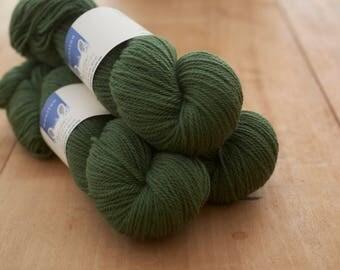 Green (Dalby Forest)4 ply yarn.