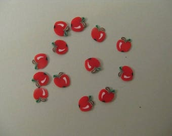 SET OF 12.POMMES POLYMER CLAY. D NAIL JEWELRY