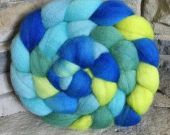 BFL Combed Top - Spinning Fiber - Feltable - Hand Painted approx. 4 ounces each - SEA GLASS