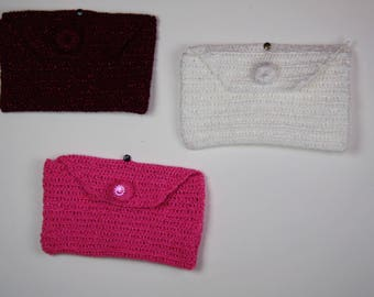 Covers various colors hand crocheted.
