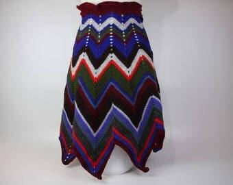 Skirt multicolored women from 38 to 40 crochet