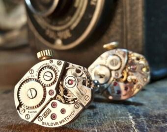 BULOVA Vintage Watch Movement Cufflinks