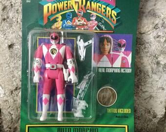 1994 Pink Power Ranger Action Figure, Auto Morphin, Pink Ranger, Kimberly, MOC, Bandai, NOS, Girl Power