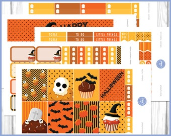 Halloween Weekly Kit | Halloween Planner Sticker | October Weekly Kit - Erin Condren Planner Weekly Kit