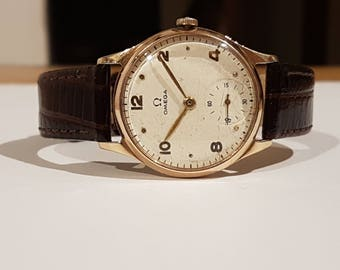 Vintage 9ct SOLID GOLD Omega Watch