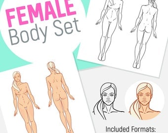 Human Female Fitness Body Set for Your Projects.