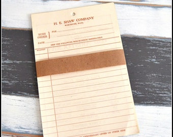 Vintage Paper Pack - Want Book Order Forms - General Store Order Form Sheets