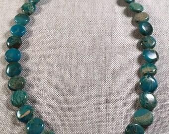 Blue Azure Opal Jasper Necklace
