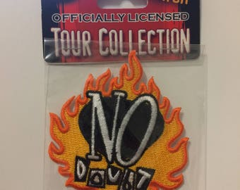 Vintage No Doubt Fire Band Embroidered Patch
