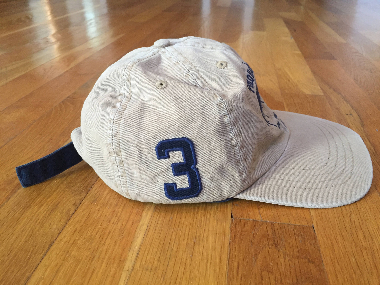 46c8f5cdc Vintage Polo by Ralph Lauren hat khaki navy blue strapback polo hat cap  horse bleeker New ...