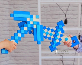 Minecraft SET (Sword + Pickaxe); Wooden Toy; Wooden Tools; Wooden weapon SET