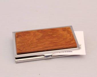 Wood Business Card Case, V650