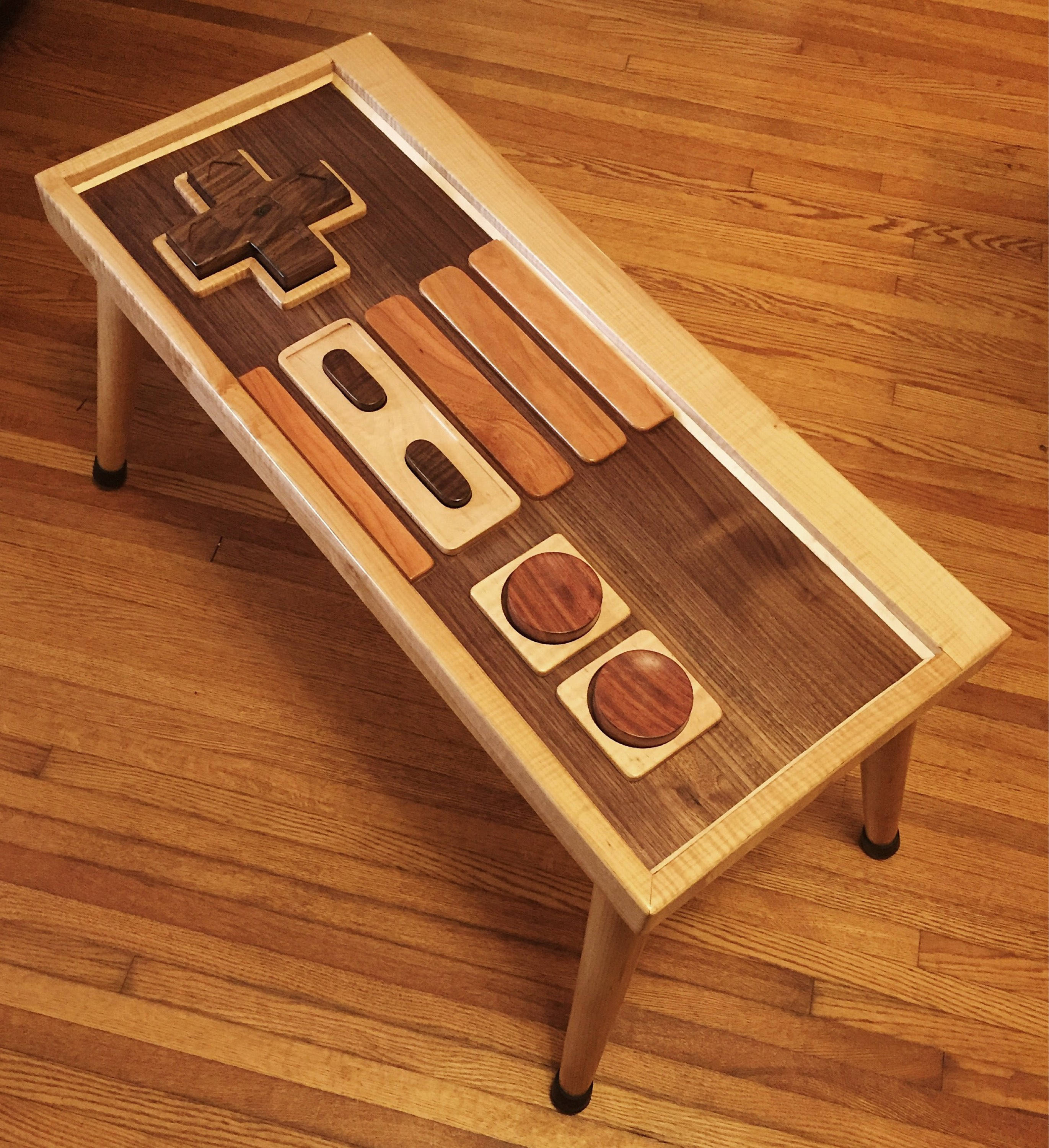 Retro Gaming Controller Inspired End Table Coffee Table All