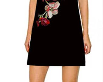 Gorgeous High Fashion Embroidered  Floral Applique. Imported.