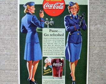 Coca Coca Adv •Stewardesses • 1942