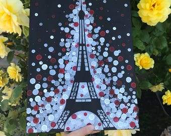 Eiffel Tower Painting//Paris Painting