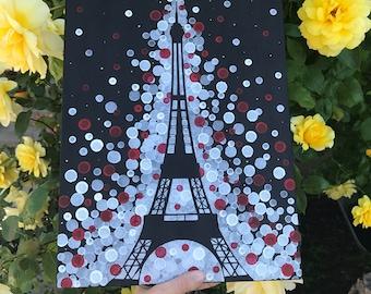 Torre Eiffel pintura / pintura de París