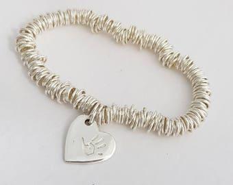 Classic Sweetie Bracelet with Handprint Charm