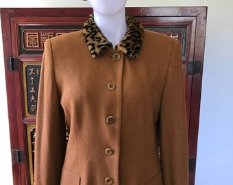 Oleg Cassini Leopard Jacket