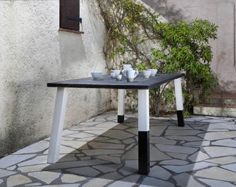 Dining table from timber & iron Jamila 200 x 100cm