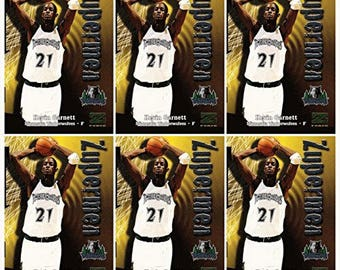 6 - 1997-98 Skybox Z Force Zupermen #199 Kevin Garnett Basketball Card Lot