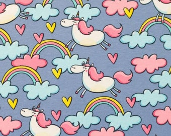 Accessoire cheveux tricot etsy unicorn jersey fabric unicorn fabric childrens fabric tricot jersey fandeluxe Choice Image
