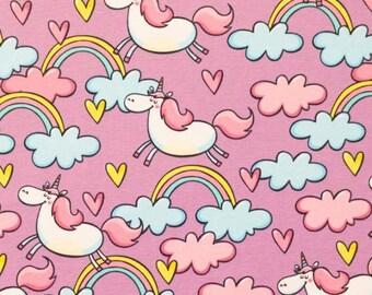 Unicorn jersey fabric, unicorn, fabric, children's fabric, tricot, Jersey