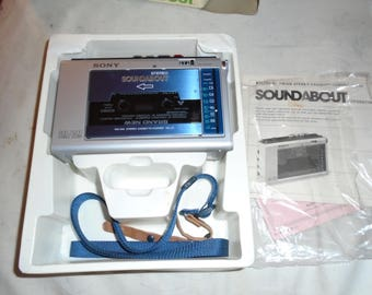 Vintage Sony WA-33 SoundAbout Cassette Player/Recorde/ Radio