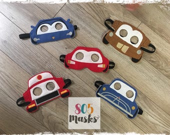Cars Inspired Masks, Kids Masks,Kids Costumes, McQueen Mask,Mater Mask, Halloween mask, Cosplay mask, Cars Birthday Party, Cars Party Favors