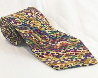Vintage Multicolored Italian Missoni Silk Necktie