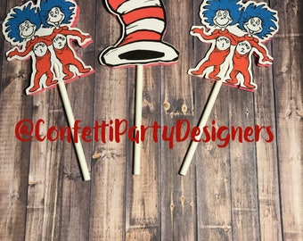 Dr. Seuss Cupcake Toppers