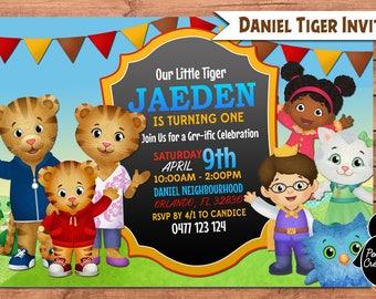 Daniel Tiger Invitation. Daniel Tiger Birthday Party. Party Supplies. Baby Shower.