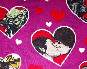 Star Wars Valentine Fabric, Cast of Star Wars on Valentine Fabric