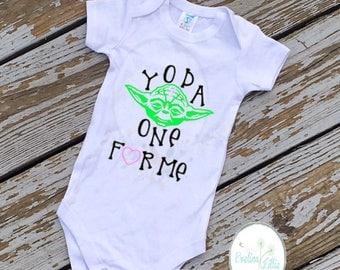Yoda One for me, Valentines day shirt, Vday shirt, kids vday shirt, Yoda shirt, Valentines day, jedi shirt, boys valentine shirt, boys shirt