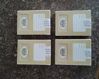 Golden Nugget Playing Cards Casino Used W/ Seal Las Vegas, Nv - 4 Packs / Decks