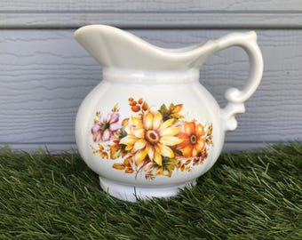 Vintage McCoy Mini Pitcher, Vintage Daisy McCoy Pitcher, Vintage McCoy Pottery, Vintage Yellow Daisy McCoy Pitcher