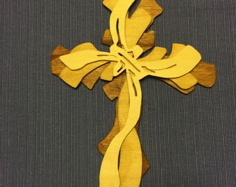 Triple layer wooden cross