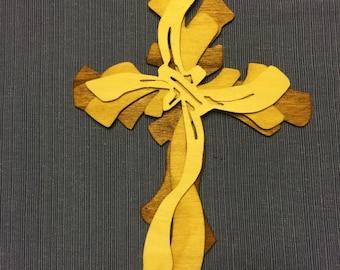 Triple layer wooden cross